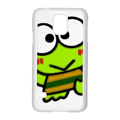 Frog Green Big Eye Face Smile Samsung Galaxy S5 Case (white) by Alisyart