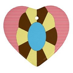 Garage Door Quilts Flower Line Ornament (heart) by Alisyart