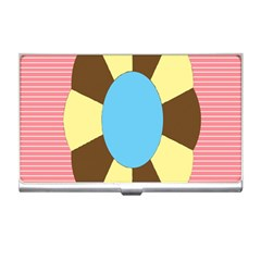 Garage Door Quilts Flower Line Business Card Holders by Alisyart