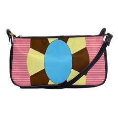 Garage Door Quilts Flower Line Shoulder Clutch Bags by Alisyart