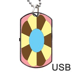 Garage Door Quilts Flower Line Dog Tag Usb Flash (one Side) by Alisyart