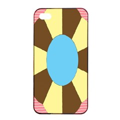 Garage Door Quilts Flower Line Apple Iphone 4/4s Seamless Case (black) by Alisyart