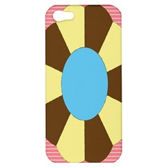 Garage Door Quilts Flower Line Apple Iphone 5 Hardshell Case by Alisyart