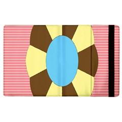 Garage Door Quilts Flower Line Apple Ipad 2 Flip Case by Alisyart