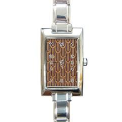 Chains Abstract Seamless Rectangle Italian Charm Watch by Simbadda
