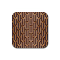 Chains Abstract Seamless Rubber Square Coaster (4 Pack)  by Simbadda