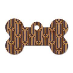Chains Abstract Seamless Dog Tag Bone (one Side) by Simbadda