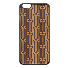 Chains Abstract Seamless Apple Iphone 6 Plus/6s Plus Black Enamel Case by Simbadda