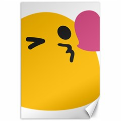 Happy Heart Love Face Emoji Canvas 20  X 30   by Alisyart