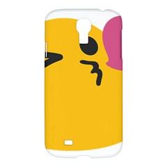 Happy Heart Love Face Emoji Samsung Galaxy S4 I9500/i9505 Hardshell Case by Alisyart