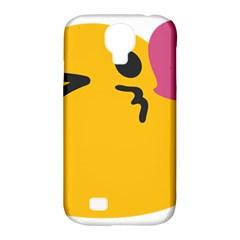 Happy Heart Love Face Emoji Samsung Galaxy S4 Classic Hardshell Case (pc+silicone) by Alisyart