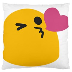 Happy Heart Love Face Emoji Large Flano Cushion Case (two Sides) by Alisyart
