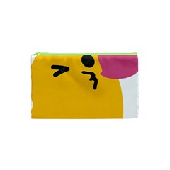 Happy Heart Love Face Emoji Cosmetic Bag (xs) by Alisyart