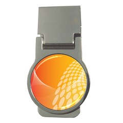 Abstract Orange Background Money Clips (round)  by Simbadda