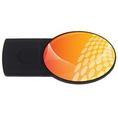 Abstract Orange Background Usb Flash Drive Oval (2 Gb) by Simbadda