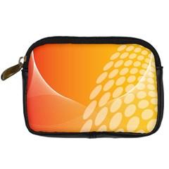 Abstract Orange Background Digital Camera Cases by Simbadda