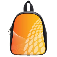 Abstract Orange Background School Bags (small)  by Simbadda