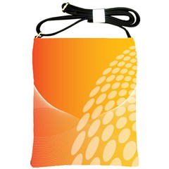 Abstract Orange Background Shoulder Sling Bags by Simbadda
