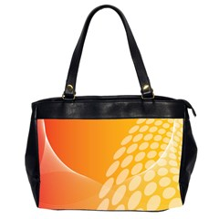 Abstract Orange Background Office Handbags (2 Sides)  by Simbadda