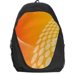 Abstract Orange Background Backpack Bag by Simbadda