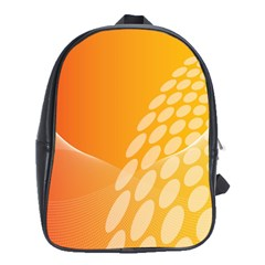 Abstract Orange Background School Bags (XL)  by Simbadda