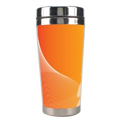 Abstract Orange Background Stainless Steel Travel Tumblers by Simbadda