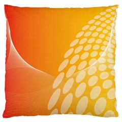 Abstract Orange Background Standard Flano Cushion Case (two Sides) by Simbadda
