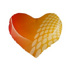 Abstract Orange Background Standard 16  Premium Flano Heart Shape Cushions by Simbadda