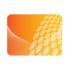 Abstract Orange Background Double Sided Flano Blanket (mini)  by Simbadda