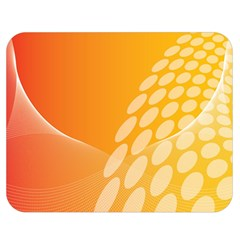 Abstract Orange Background Double Sided Flano Blanket (medium)  by Simbadda