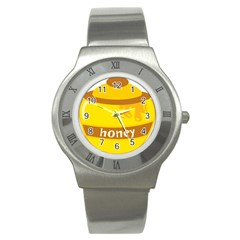 Honet Bee Sweet Yellow Stainless Steel Watch by Alisyart