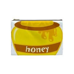 Honet Bee Sweet Yellow Cosmetic Bag (Medium)