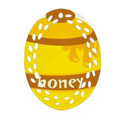 Honet Bee Sweet Yellow Oval Filigree Ornament (two Sides) by Alisyart