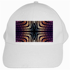 Vibrant Pattern Colorful Seamless Pattern White Cap by Simbadda