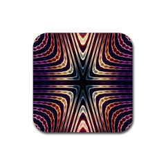 Vibrant Pattern Colorful Seamless Pattern Rubber Coaster (square)  by Simbadda