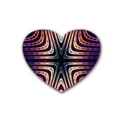 Vibrant Pattern Colorful Seamless Pattern Heart Coaster (4 Pack)  by Simbadda