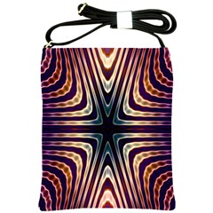 Vibrant Pattern Colorful Seamless Pattern Shoulder Sling Bags by Simbadda