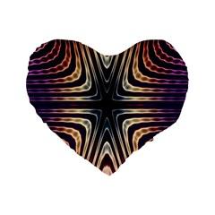 Vibrant Pattern Colorful Seamless Pattern Standard 16  Premium Flano Heart Shape Cushions by Simbadda