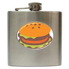 Hamburger Hip Flask (6 Oz) by Alisyart
