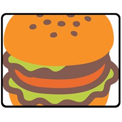 Hamburger Fleece Blanket (medium)  by Alisyart