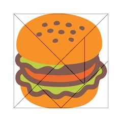 Hamburger Acrylic Tangram Puzzle (6  X 6 ) by Alisyart