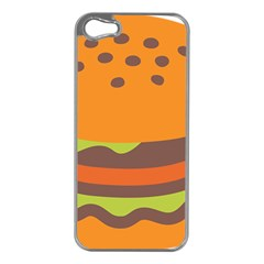 Hamburger Apple Iphone 5 Case (silver)