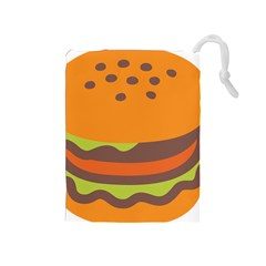 Hamburger Drawstring Pouches (medium)  by Alisyart
