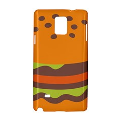 Hamburger Samsung Galaxy Note 4 Hardshell Case by Alisyart