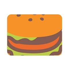 Hamburger Double Sided Flano Blanket (mini)  by Alisyart