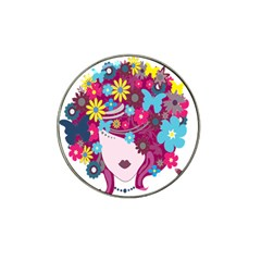 Floral Butterfly Hair Woman Hat Clip Ball Marker by Alisyart