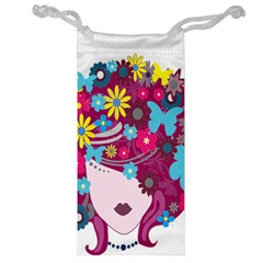 Floral Butterfly Hair Woman Jewelry Bag by Alisyart