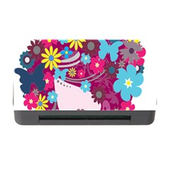Floral Butterfly Hair Woman Memory Card Reader With Cf by Alisyart