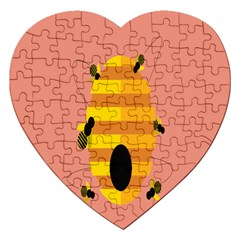 Honeycomb Wasp Jigsaw Puzzle (heart) by Alisyart