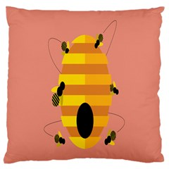 Honeycomb Wasp Large Cushion Case (two Sides) by Alisyart